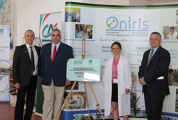 Inauguration simulateur de mastication Bourse sante et Alimentation Oniris