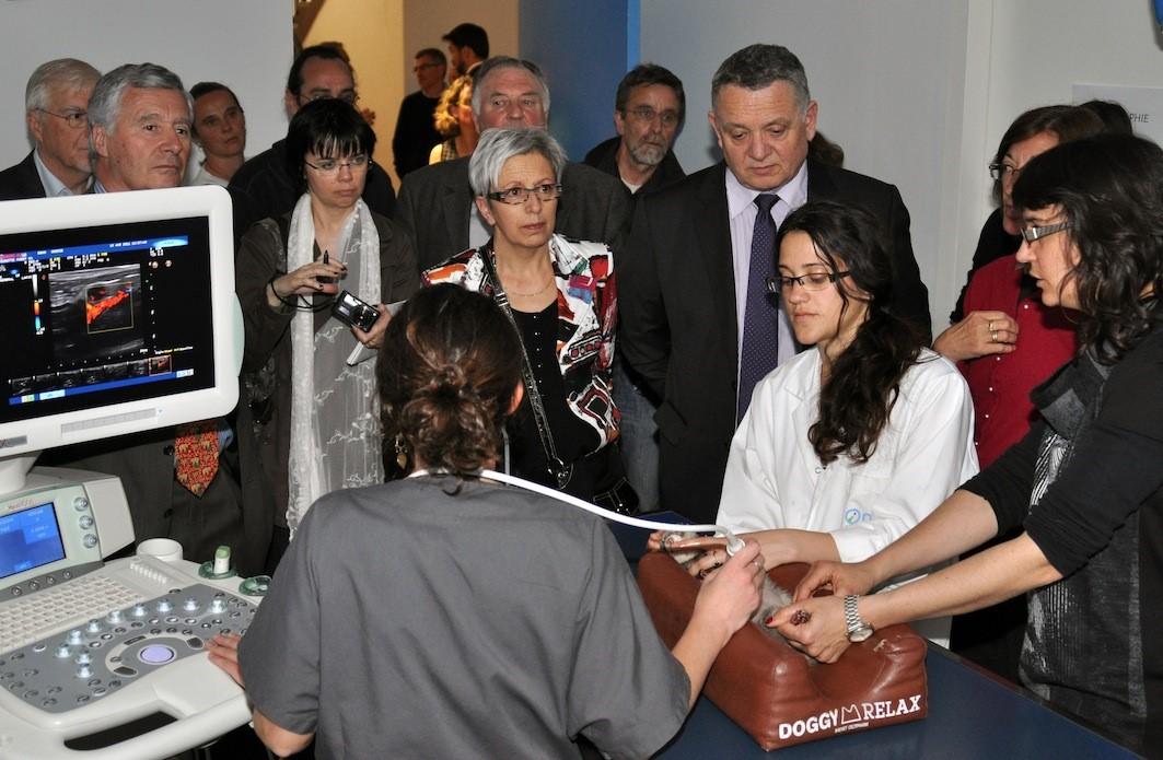 Inauguration Echogrpahe Chaire sante et alimentation Oniris