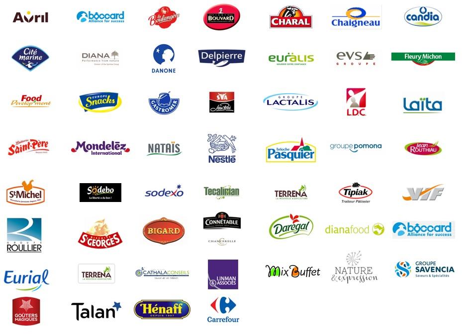 Logos des entreprises présentes au forum des métiers Oniris